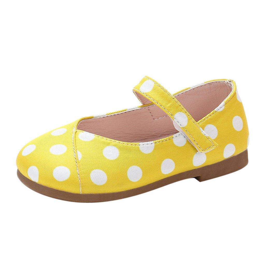 bb8e11b93c2fd Amazon.com : Cloudro Soft Sole Baby Girls Shoes Dot Faux Leather ...