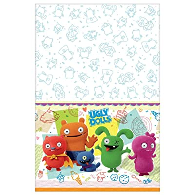 """Amscan 572085""""UglyDolls Movie"""" Multicolor Plastic Party Table Cover, 54"""" x 96"""": Toys & Games"""