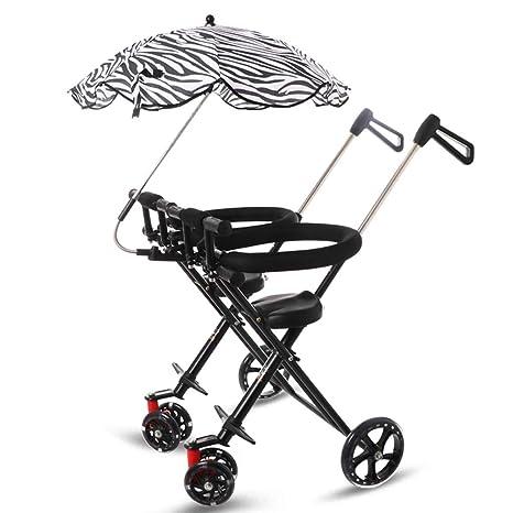Minmin Cochecito Infantil Triciclo para niños de 1 a 5 años Cochecito de bebé Plegable Ligero