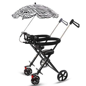 Minmin Cochecito Infantil Triciclo para niños de 1 a 5 años Cochecito de bebé Plegable Ligero Carrito Doble: Amazon.es: Juguetes y juegos