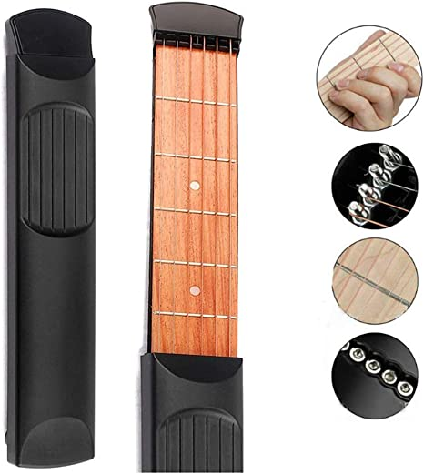 ZEERKEER Guitarra de bolsillo con herramienta de afinación ...