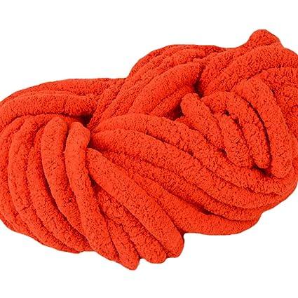 Amazon com: 1kg DIY Fluffy Chenille Yarn, 100% Polyester