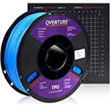 Overture TPU Filament 1.75mm Flexible TPU Roll with 200 x 200 mm Soft 3D Printer Consumables, 1kg Spool (2.2 lbs…