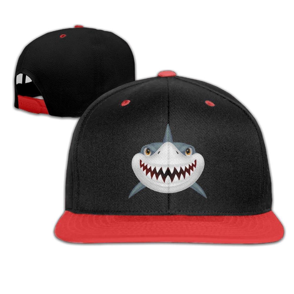 Black Big Hip Hop Caps Cotton Baseball Hats Scary Shark Boy& Girl
