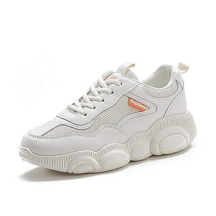 ZHIJINLI Zapatillas Deportivas pequeñas, Blancas, Transpirables, Zapatos de Oso, Zapatos Deportivos,