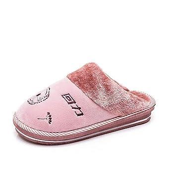 SHANGXIAN Mujer Invierno Cálido Pantuflas Casa Felpa Moda Casual Interior Zapatillas Pareja Zapatos De Algodon,B,38/39: Amazon.es: Hogar