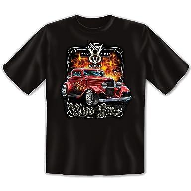US-Car - Damen und Herren T-Shirt mit dem Motiv: Wild ride - Farbe: schwarz  - von Art & Detail Shirt: Amazon.de: Bekleidung