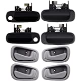 ECCPP Door Handles Exterior Interior Passenger Driver Side Front Rear for 1998 1999 2000 2001 2002