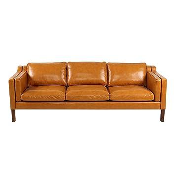 Amazon Com Kardiel Monroe Mid Century Modern Sofa 3 Seat Tan