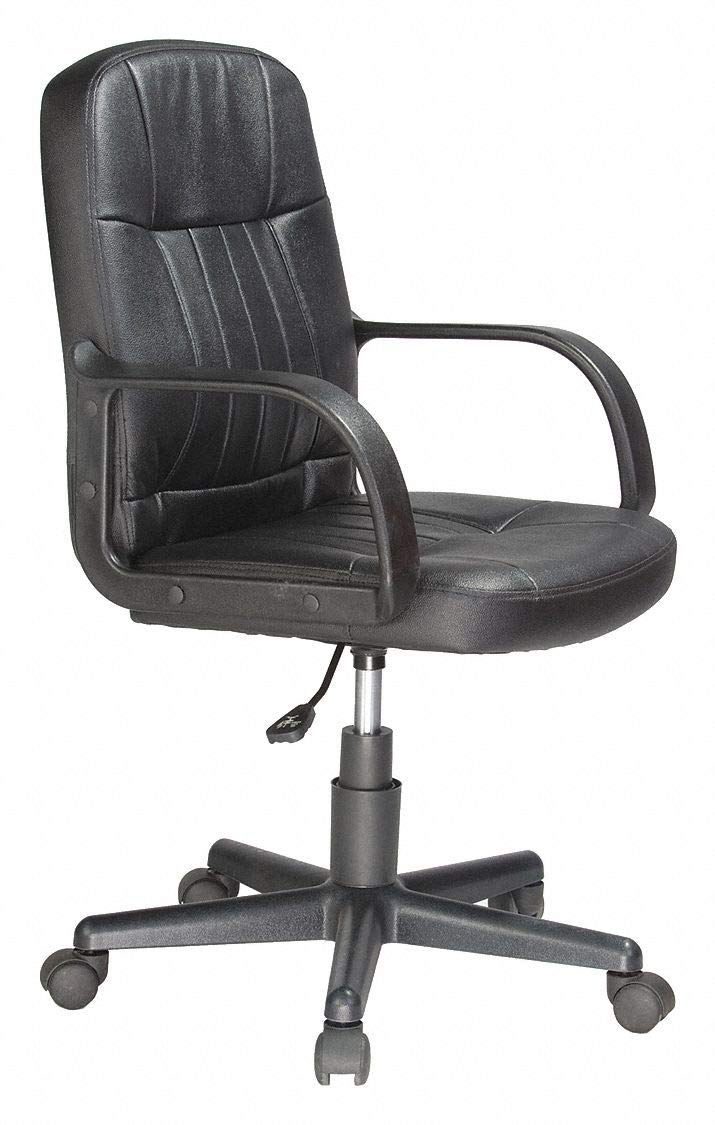 Pleasant Amazon Com Black Leather Desk Chair 20 Back Height Arm Ocoug Best Dining Table And Chair Ideas Images Ocougorg