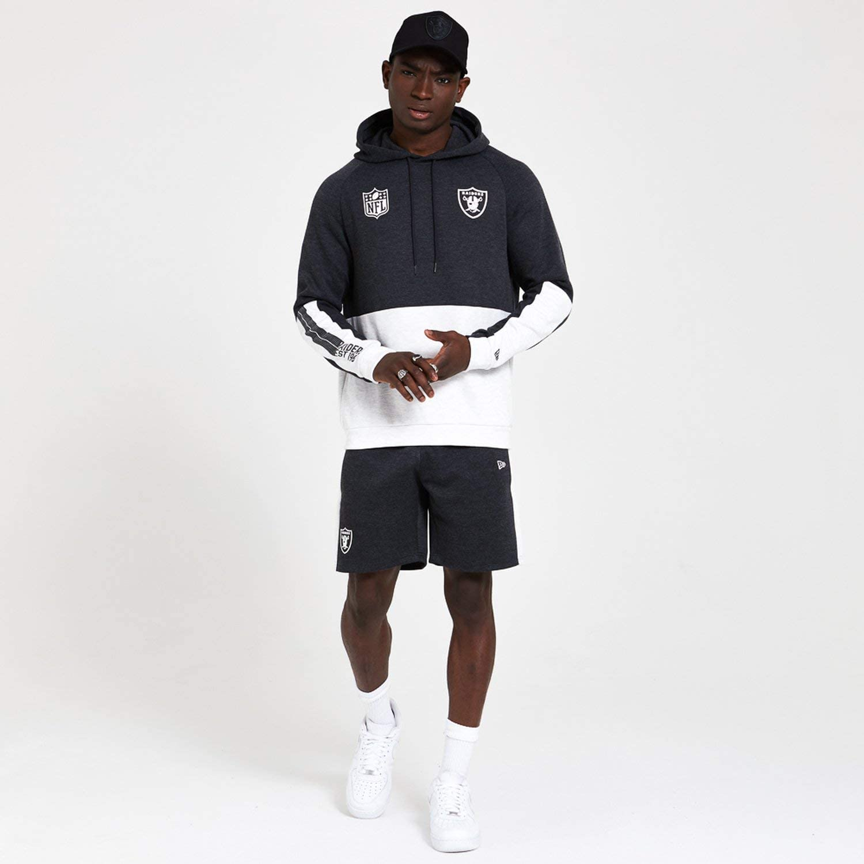 New Era Herren NFL Colour Block Hoody Oakrai Hgp Sweatshirt Grau (Grey Med)