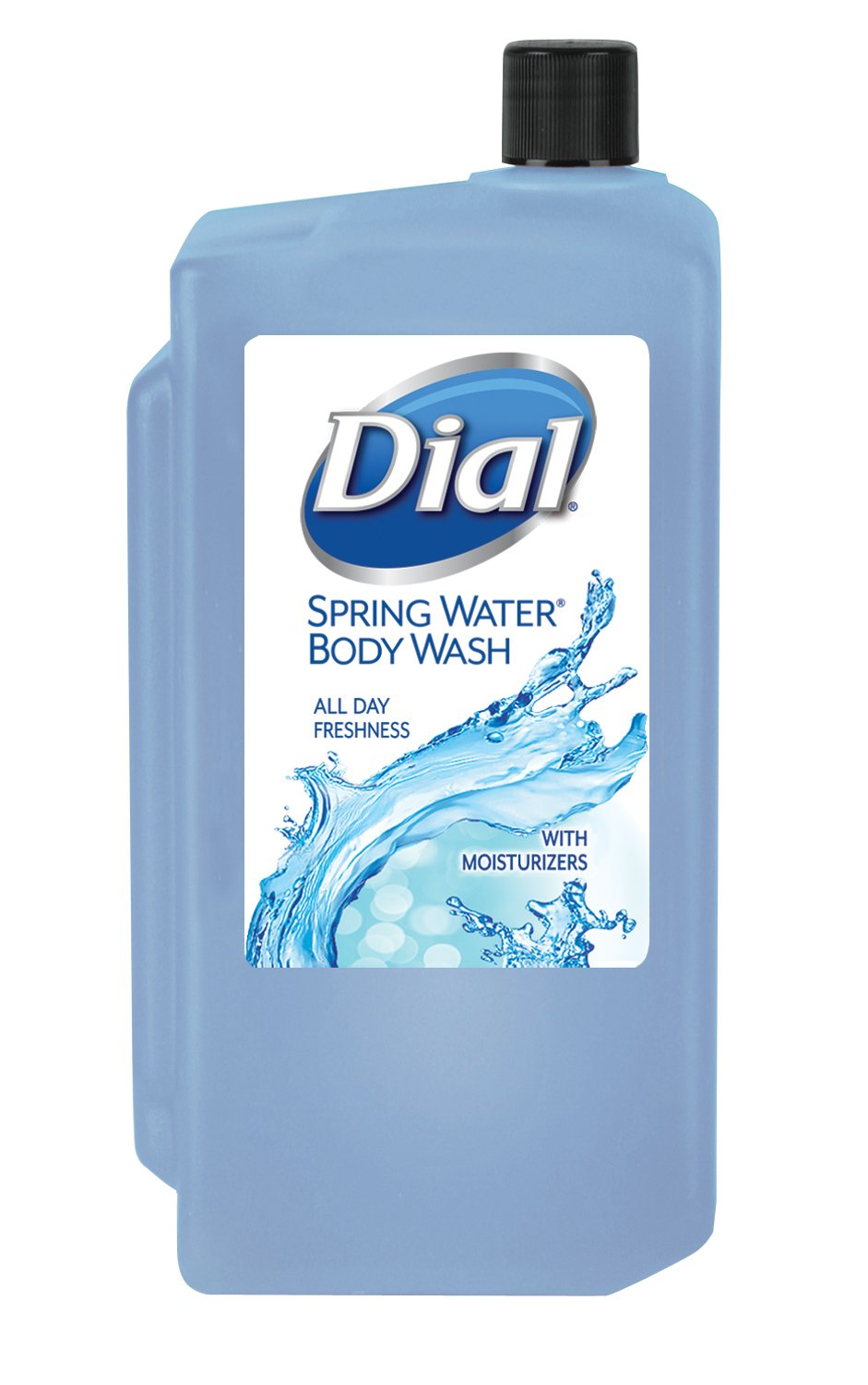 Dial Spring Water Body Wash, 1L Refill Cartridge (Pack of 8)