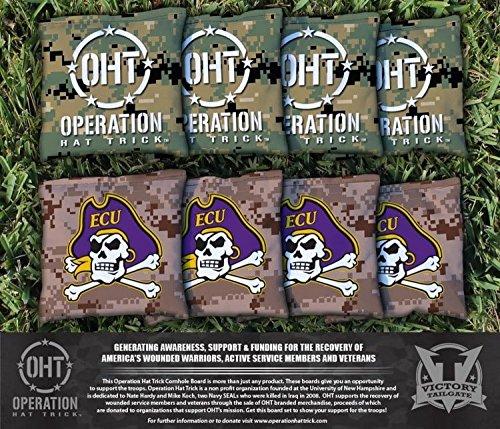 8 East Carolina University ECU Pirates Regulation All Weather Cornhole Bags