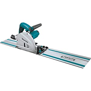 """Makita SP6000J1 6-1/2"""" Plunge Circular Saw Kit, with Stackable Tool case and 55"""" Guide Rail"""