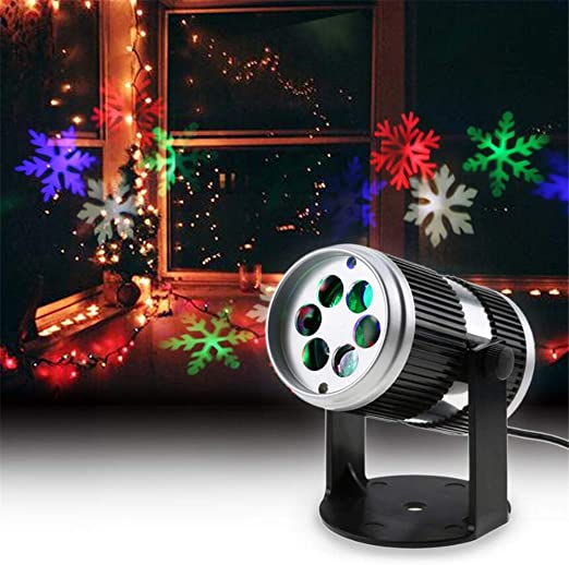 Navidad proyector Luces Movimiento dinámico Copo de Nieve ...