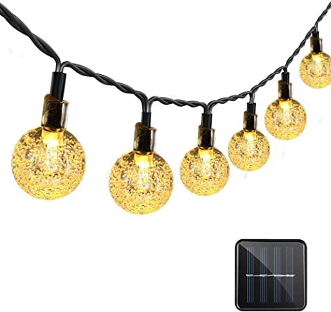 40 LED Globe Fairy String Lights 2-Pack Outdoor Indoor Decor Lighting for Christmas Garden Path Patio Lawn Holiday Wedding Party Vmanoo String Lights Battery Powered Warm White