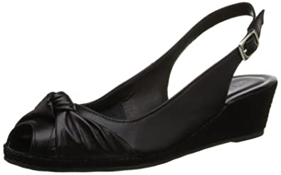 Sesto Meucci Women's 1705 239191 Wedge Pump, Black Nappa, ...