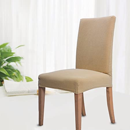Jacquard Dining Chair Covers Set Of 6 Spandex Stretch Seat Removable Washable Elastic Protector Chairs