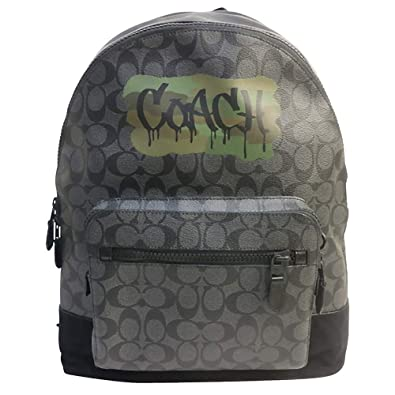 5744a208de1d コーチ COACH バック リュック・デイパック メンズ アウトレット PVC×レザー シグネチャー A4可能 バックパック