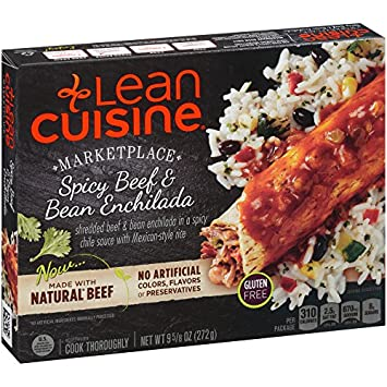 Lean Cuisine, Marketplace, Gluten Free Spicy Beef and Bean Enchilada, 9.625 oz (