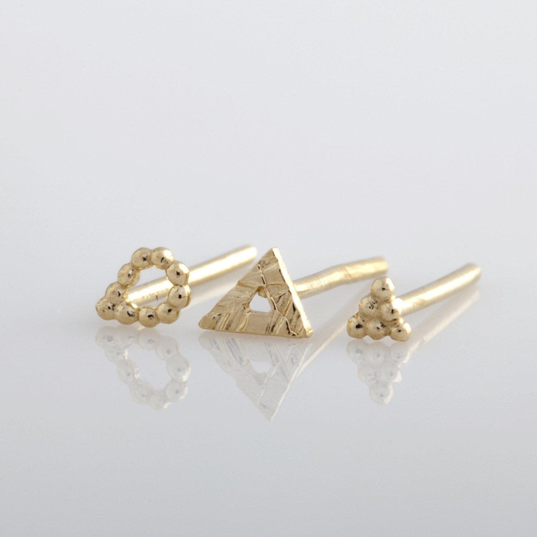 Small Gold Stud Earring 14K Tiny Earring Tiny Stud Minimalist Earring Gold Diamond Stud Dainty Earring Gold Post Everyday Earring