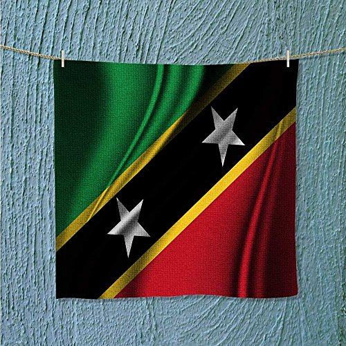 (Miki Da hiking towel Flag of SAINT KITTS AND NEVIS resort,hotels/Motels,gym use W13.8 x W13.8)