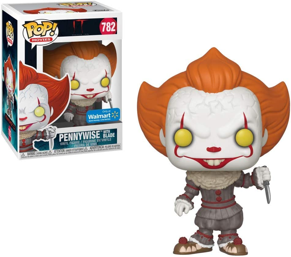Funko- Pop Vinyl: Movies: It: Chapter 2-Pennywise W/Blade Figura Coleccionable, Multicolor (40632)