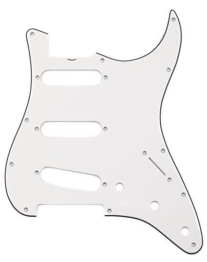 Fender 009 4392 049 Eggshell Pure Vintage 3 Ply 12 Hole Mount 65