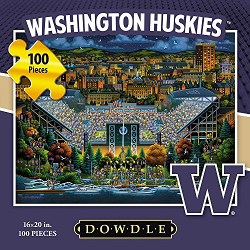 Jigsaw Puzzle - University of Washington Huskies-UW-100 Pc By Dowdle Folk Art