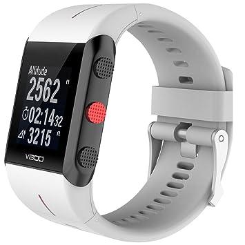 Correa para reloj pulsera Cooljun, para reloj Polar V800, repuesto moderno, de caucho y silicona, blanco: Amazon.es: Deportes y aire libre