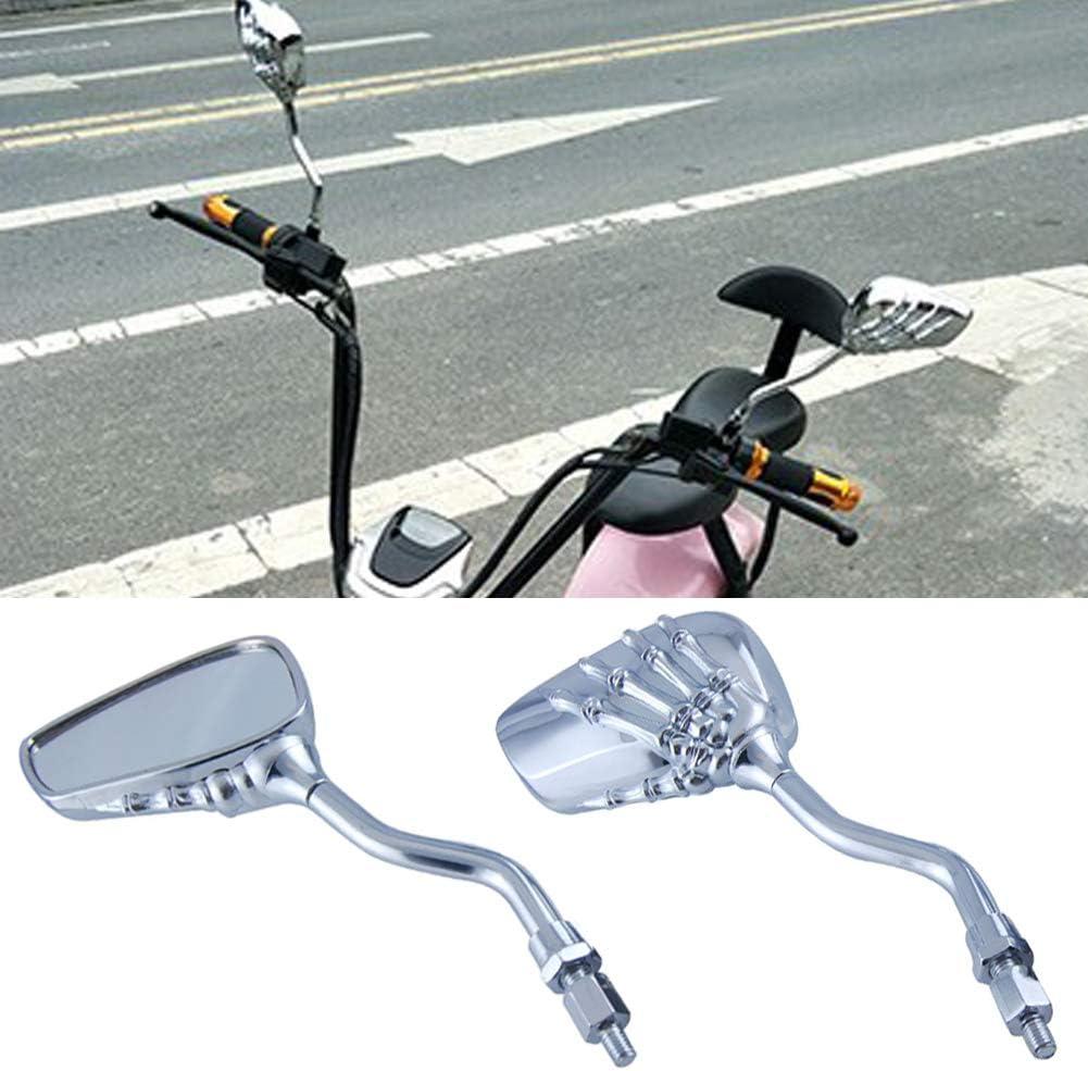 Chrome Skull Hand Skeleton Side View Mirror Motorcycle Sport Street Bike Cruiser