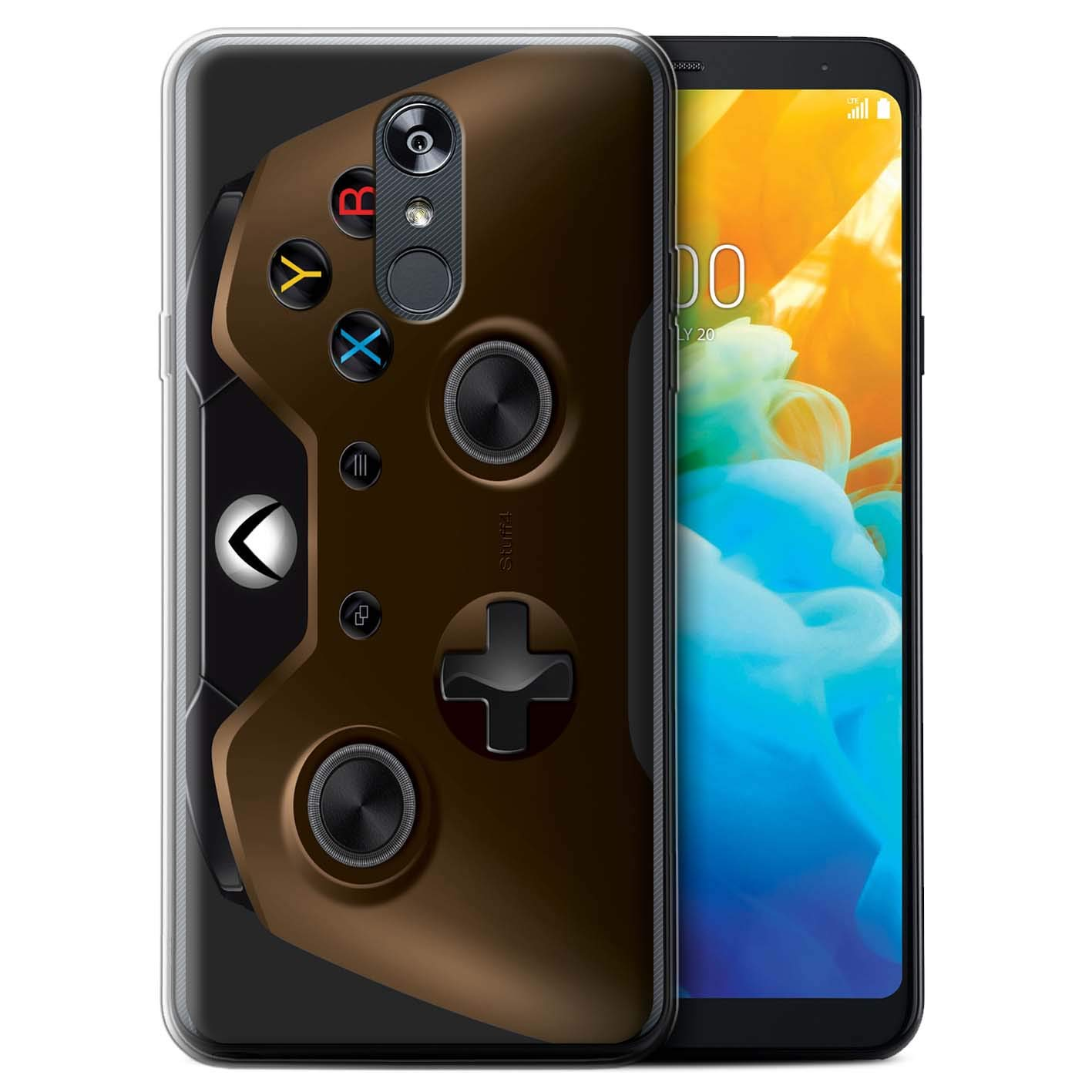 eSwish Gel TPU Phone Case/Cover for LG Stylo 4/4+/Q Stylo 4 / Copper Design/Gamer/Xbox One Collection