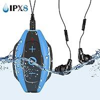 AGPTEK MP3 Acuatico 8GB, S05 Waterproof Clip Reproductor
