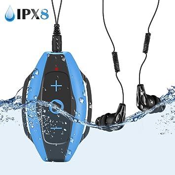 Mp3 Acuatico 8GB, AGPTEK S05 Waterproof Clip Reproductor de MP3