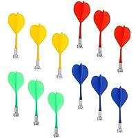Sharplace 12 Pezzi Dardi Magnetici Di Magnete Dartboard Plastica Sostituzione Gioco al Coperto Giocattolo - Colorati