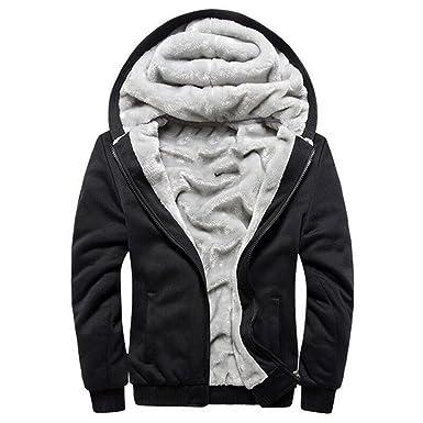 manluodanni men s thick warm fleece hoodie sweatshirt hooded