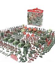 Soldaditos De Juguete Plastico Juego De 307 Piezas De Juguete Militar Para Niños De 4-9 Cm, Un Juego De Mesa De Arena Modelo