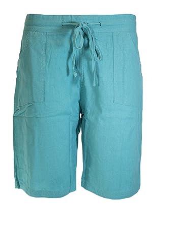 IMTD Shorts für Damen, Leinen, Sommer, Damen, Urlaub, Beach-Wear ... 1a3fc6fb93
