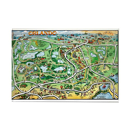 CafePress Orlando 11x17 Magnets Rectangle Magnet, 2