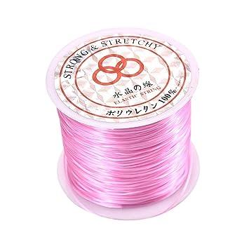 10 Rolls 0.6-1mm Crystal Stretch Cord Elastic String Craft Bracelet Beads Thread