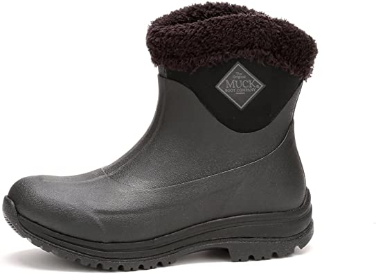 Black//Shaded Spruce Blue Warm Winter Boot Muck Boot Women Arctic Apres Slip-on
