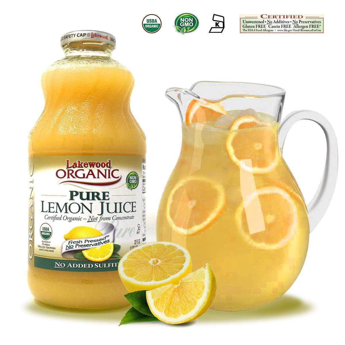 Lakewood Organic Pure Lemon, 32 Ounce (Pack of 6) by Lakewood (Image #7)