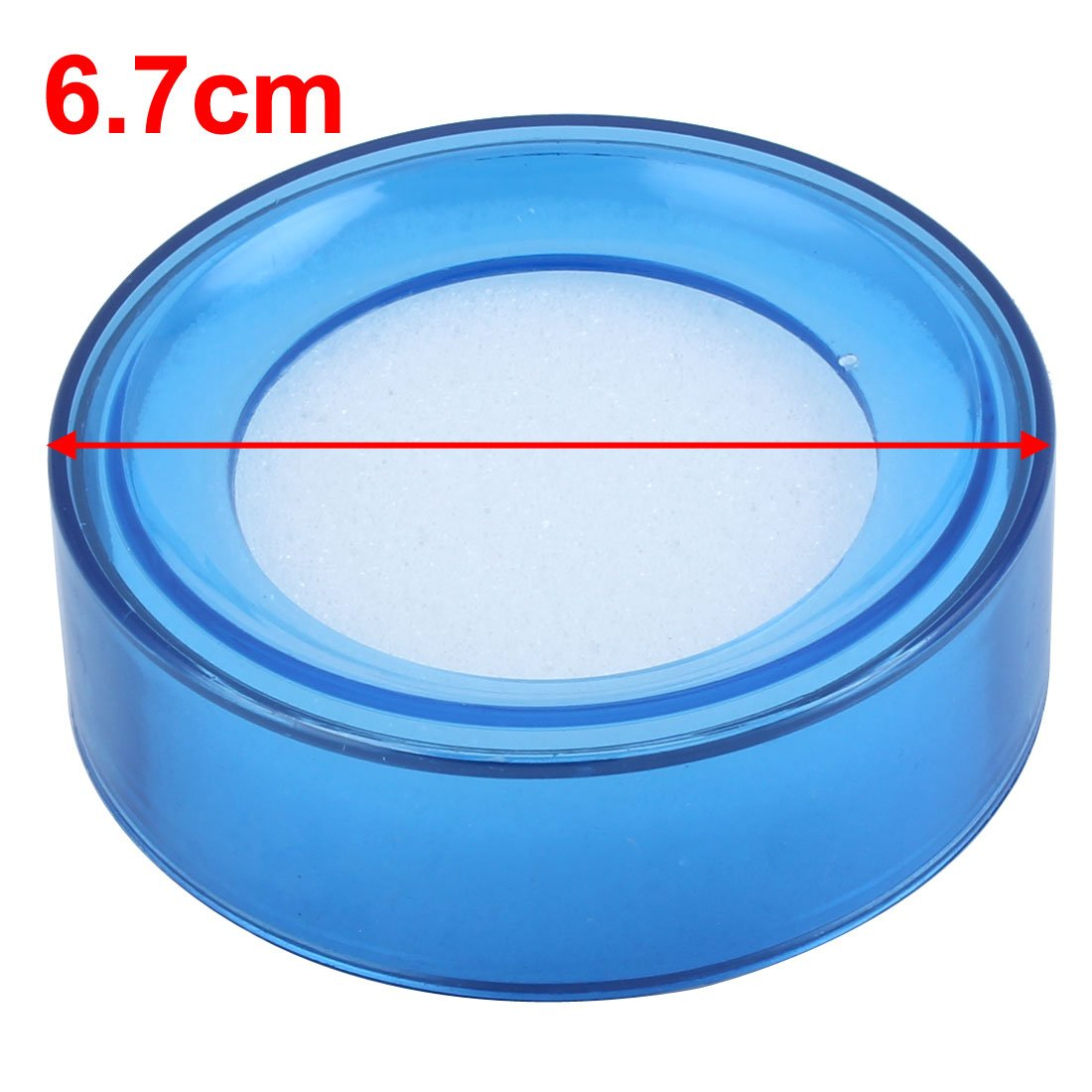 Esponja redonda para mojar el dedo, color azul: Amazon.es: Oficina y papelería