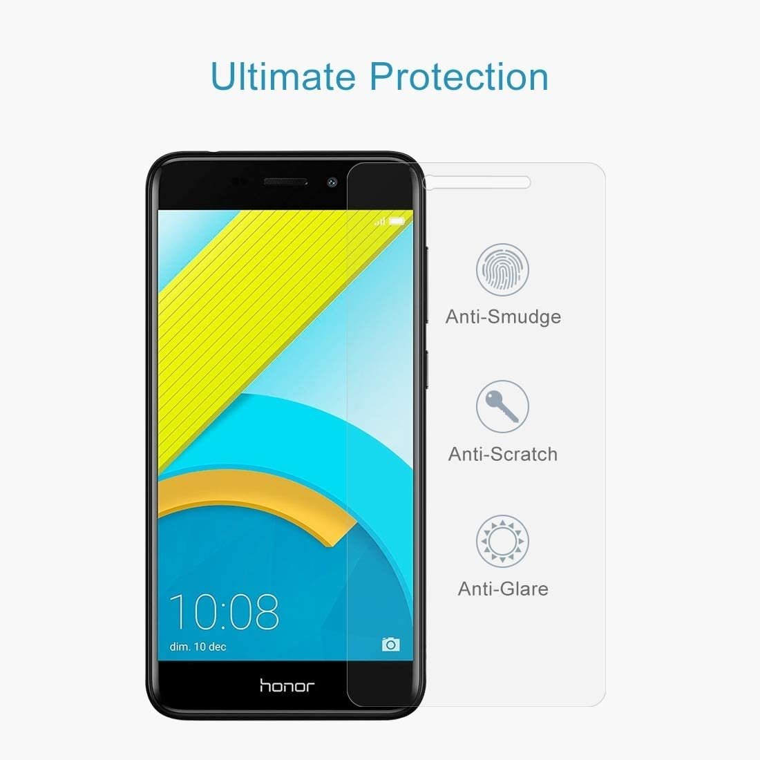 ALICEWU WJH 100 PCS for Huawei Honor 6C Pro 0.26mm 9H Surface Hardness 2.5D Explosion-Proof Tempered Glass Screen Film