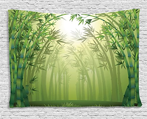 Bamboo Tapestry - Ambesonne Bamboo Tapestry, Image of