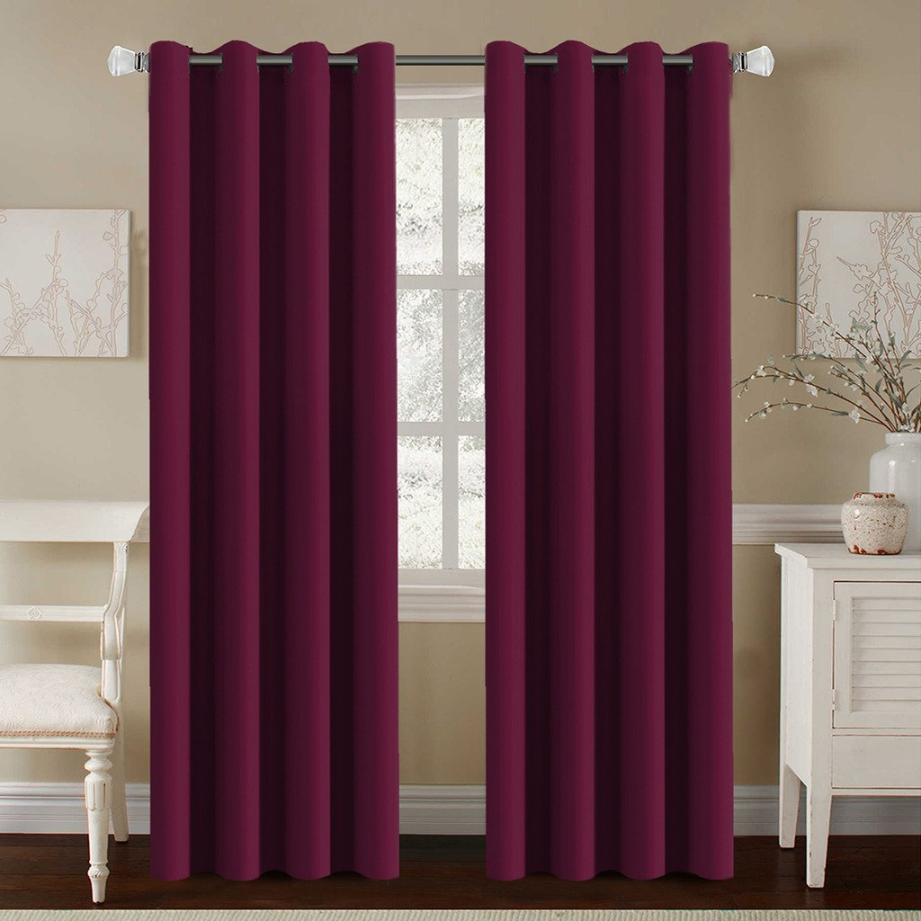 HVersailtex Elegant Grommet Blackout Thermal Insulated Solid Curtains DrapesWindow Treatment Panels