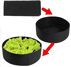 15 Gallon Raised Garden Bed Fabric Raised Planting Bed Black Round Garden Grow Bag for Herb Flower Vegetable Plants