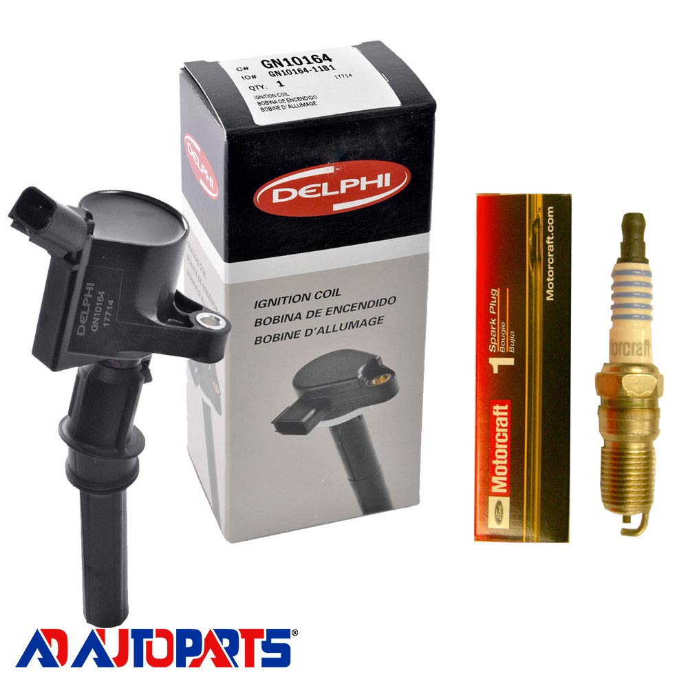 Amazon.com: New Motorcraft Spark Plug SP413 + Delphi Ignition Coil GN10164: Automotive
