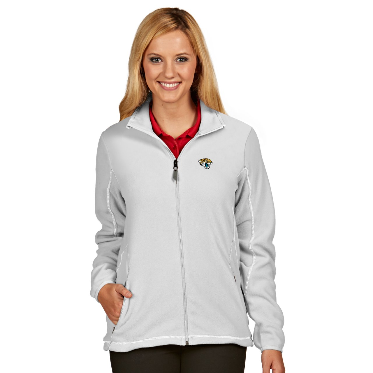 613eb48211e Amazon.com   NFL Jacksonville Jaguars Women s Ice Jacket   Sports ...