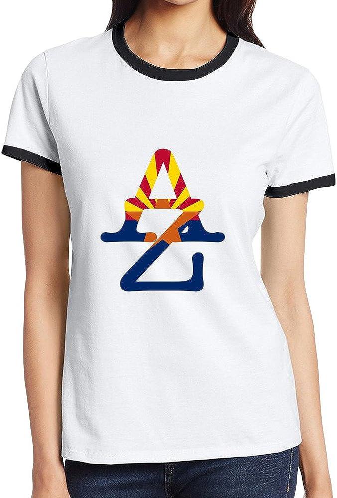 ALIZISHOP1 Women's Arizona Cotton Hit Color Short Sleeve T Shirts